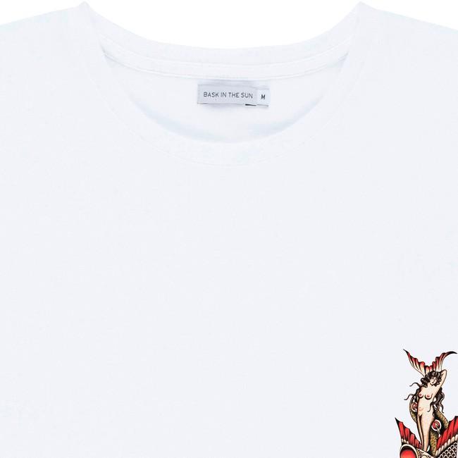 T-shirt en coton bio white mermaid - Bask in the Sun num 1