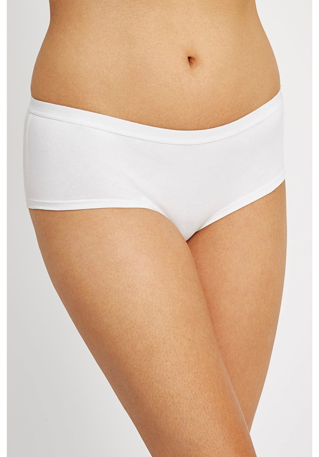 Shorty blanc en coton bio - People Tree
