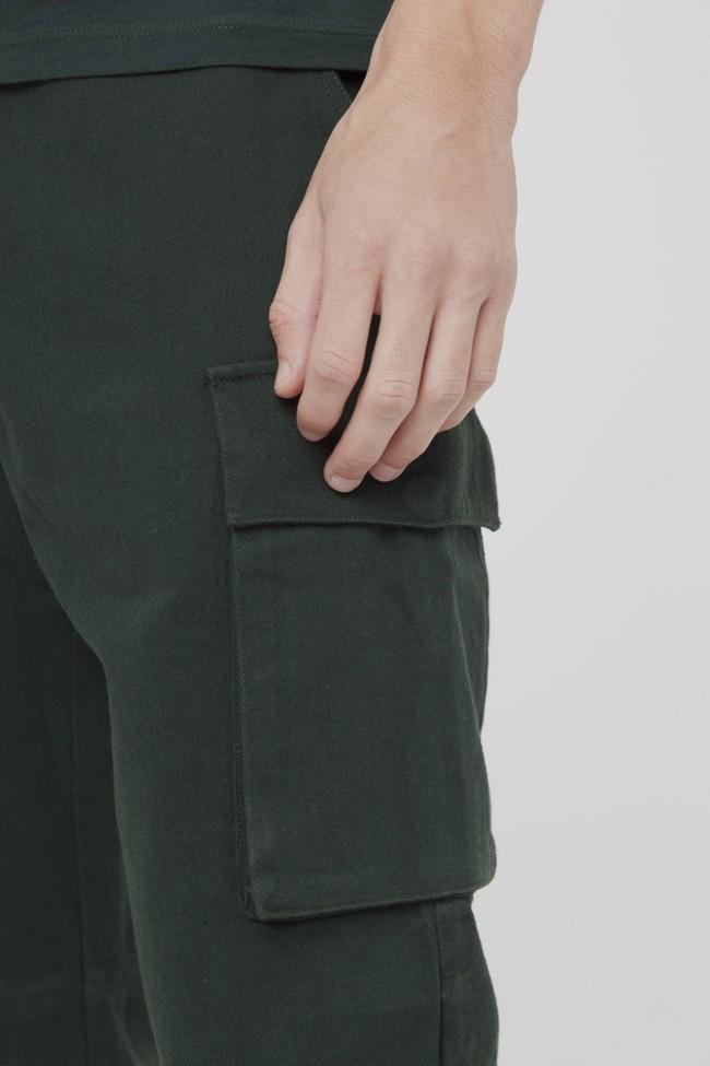 Pantalon cargo vert en coton bio - Thinking Mu num 3