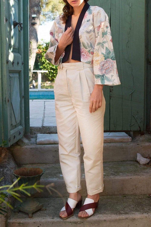 Pantalon krabe crème - Les Récupérables