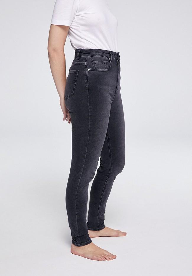 Jean skinny taille haute gris délavé en coton bio - ingaa - Armedangels num 3