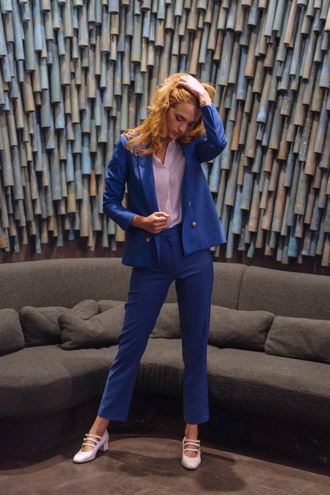 Pantalon tailleur new-york bleu royal - 17h10 num 3
