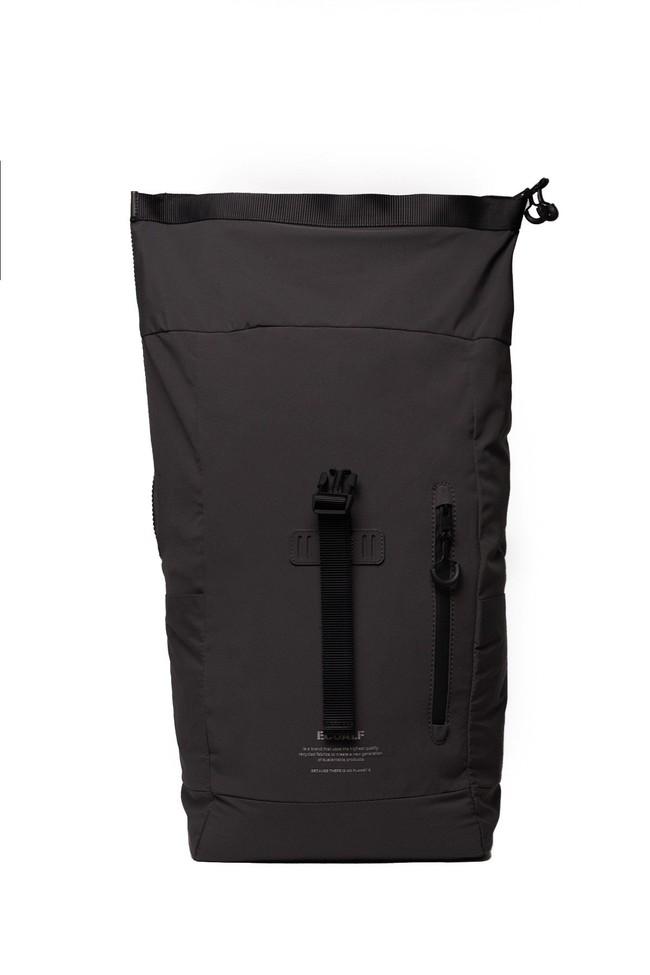 Sac à dos roll top recyclé noir - skopie - Ecoalf num 1