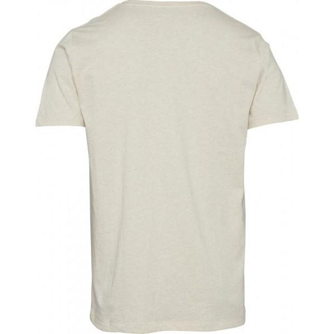 T-shirt écru en coton bio - Knowledge Cotton Apparel num 1