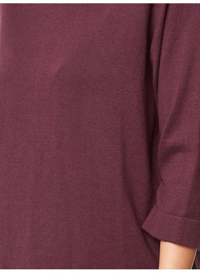 Pull bordeaux en coton bio et laine - Thought num 1