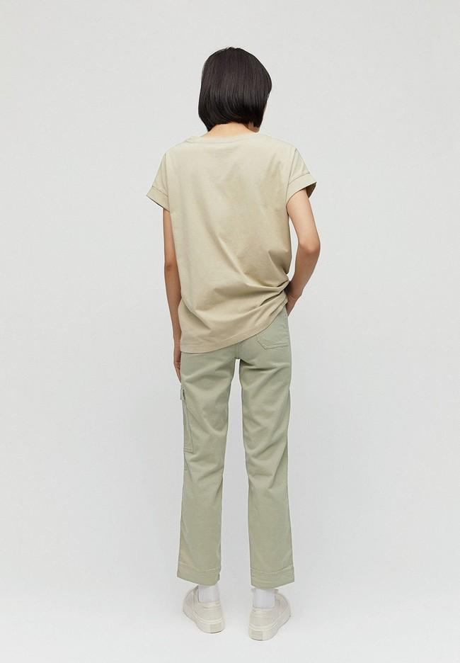 Pantalon cargo vert pâle en coton bio - virginiaa - Armedangels num 2