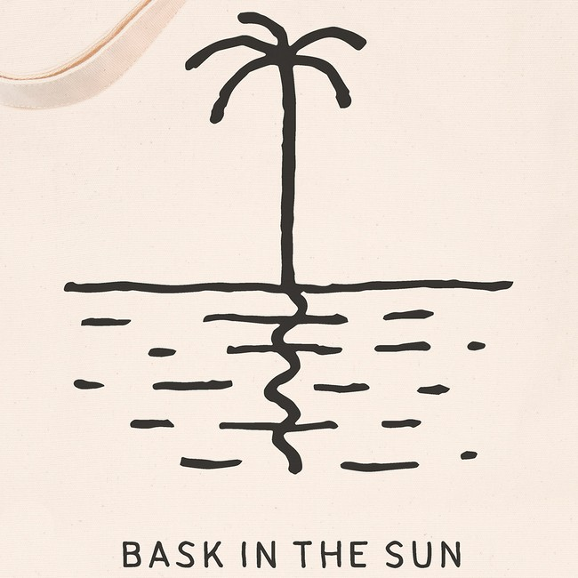 en coton bio white palm tree - Bask in the Sun num 1