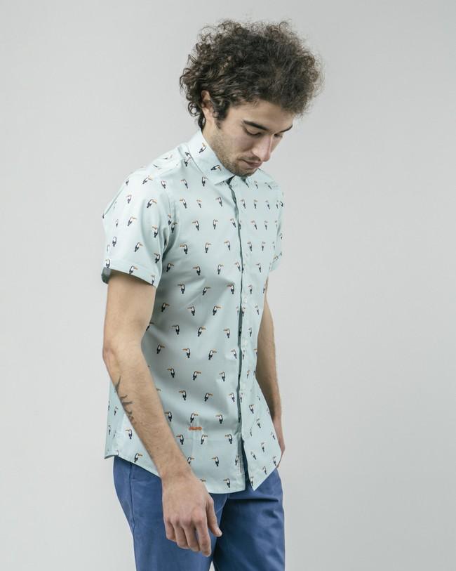 Tropical tucan printed shirt - Brava Fabrics