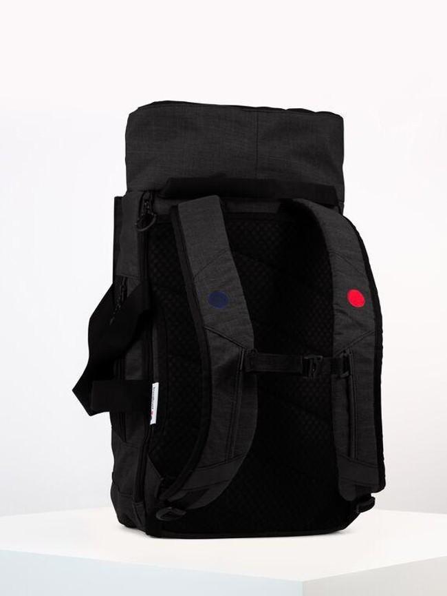 Sac à dos noir anthracite en plastique recyclé - blok medium - pinqponq num 2