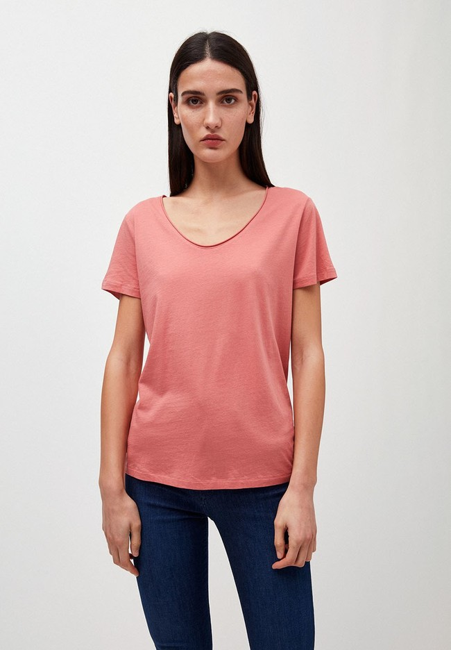 T-shirt rose en coton bio - haadia - Armedangels