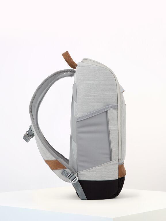 Sac à dos gris clair recyclé - cubik medium grey melange dlx - pinqponq num 1