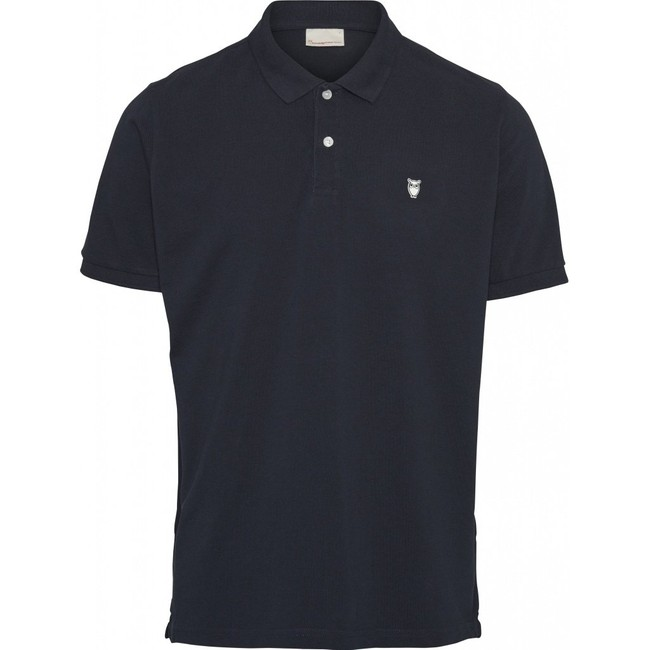 Polo bleu nuit en coton bio - Knowledge Cotton Apparel