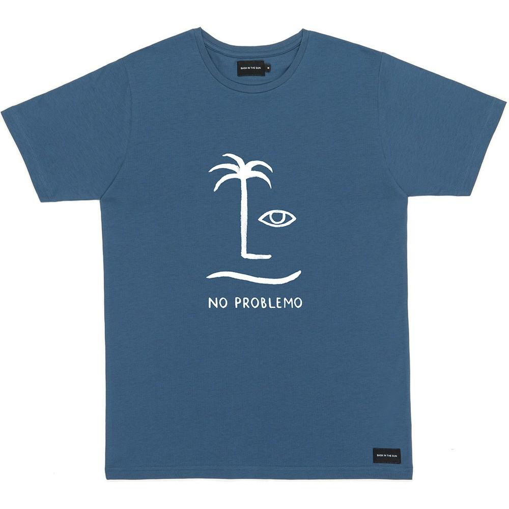 T-shirt en coton bio blue no problemo - Bask in the Sun