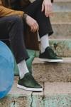 Chaussure en gravière cuir vert sapin - Oth - 6