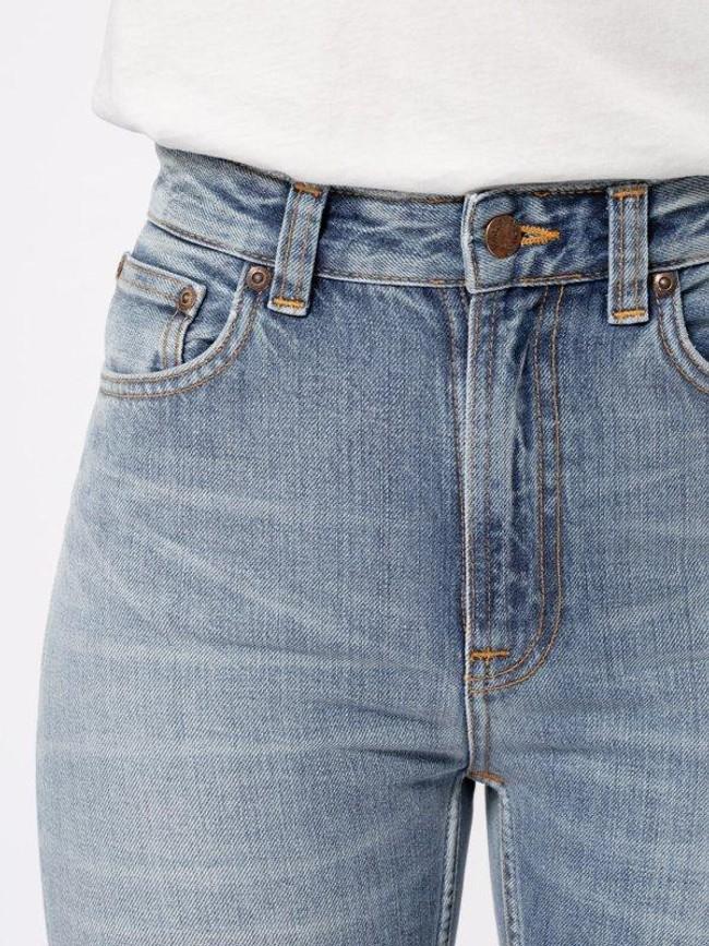 Jean mom bleu clair délavé en coton bio - breezy britt springtime - Nudie Jeans num 4