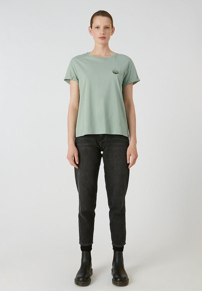 T-shirt vert en coton bio - naalin girl scout - Armedangels num 1