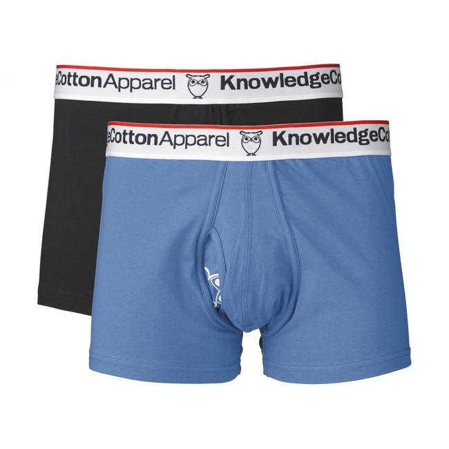 Pack boxers bleu en coton bio - Knowledge Cotton Apparel