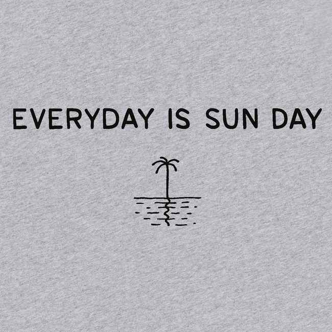 T-shirt grey palm tree - Bask in the Sun num 3