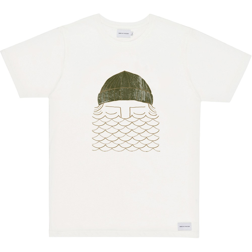 T-shirt en coton bio natural to the sea - Bask in the Sun
