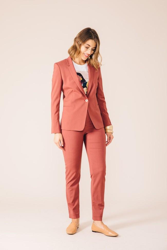 Pantalon tailleur new-york rose brique - 17h10 num 3