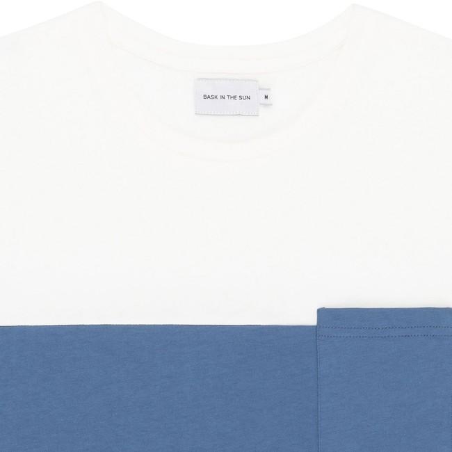 T-shirt en coton bio blue teofilo - Bask in the Sun num 1