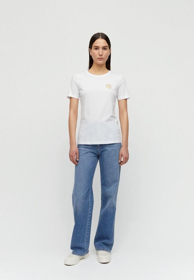 T-shirt imprimé blanc en coton bio - lidaa small elements - Armedangels num 2