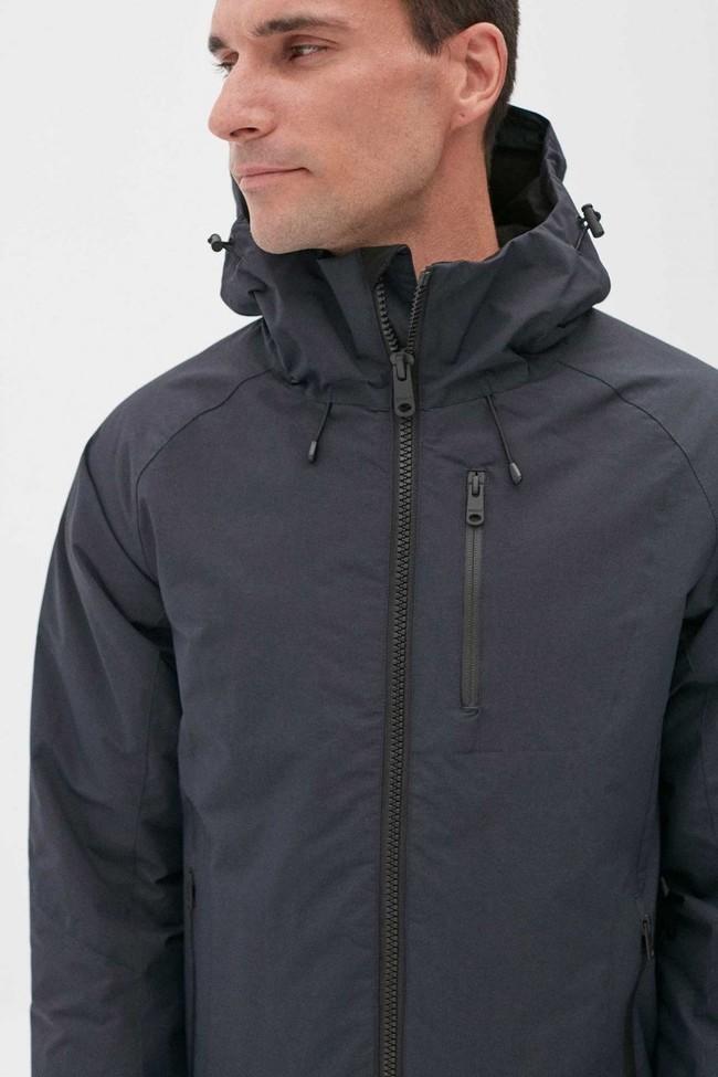Manteau à capuche bleu marine en nylon recyclé - kilimanjaro - Ecoalf num 1