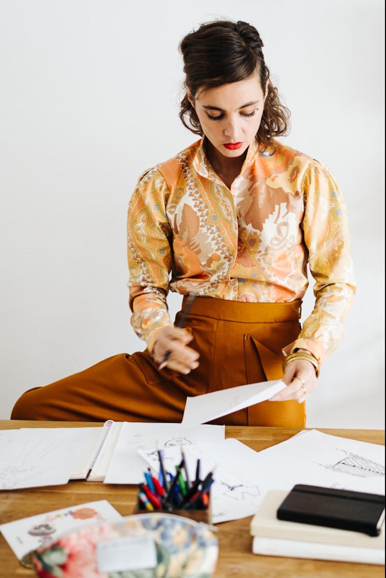 Chemise mao couleurs d'automne - Les Récupérables
