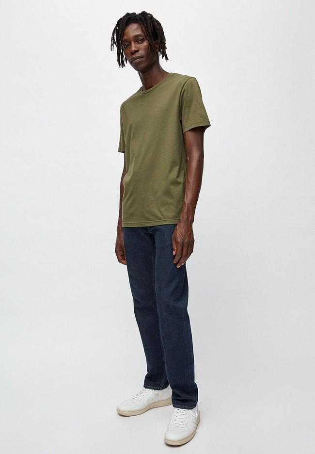 T-shirt kaki en coton bio - jaames - Armedangels num 1