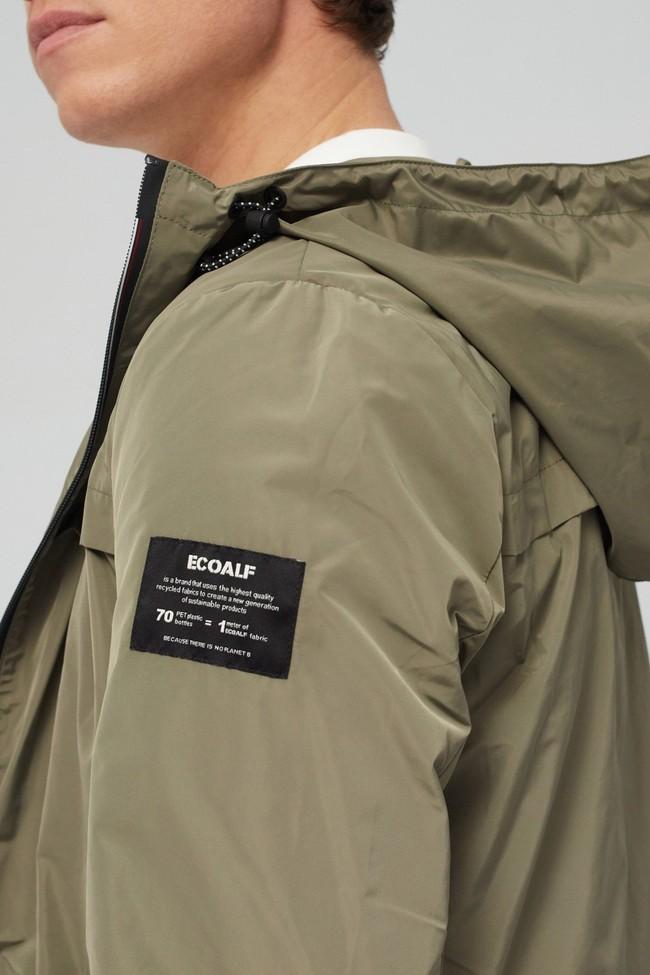Veste kaki en polyester recyclé et sorona - dalven nautic - Ecoalf num 3