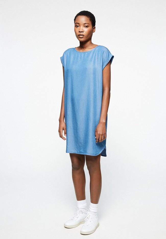 Robe bleue en coton bio - hilaa - Armedangels num 1