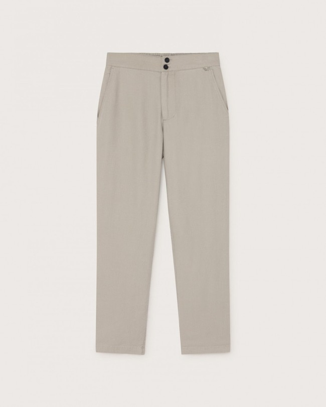 Pantalon beige en chanvre, coton bio et tencel - dafne - Thinking Mu num 4