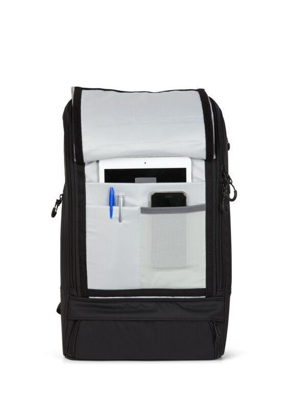 Sac à dos noir recyclé - cubik grand - pinqponq num 4