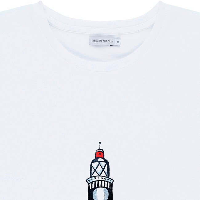 T-shirt en coton bio white lighthouse - Bask in the Sun num 1