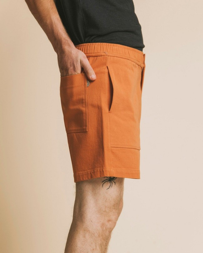 Short cargo terracotta en coton bio - kivu - Thinking Mu num 3