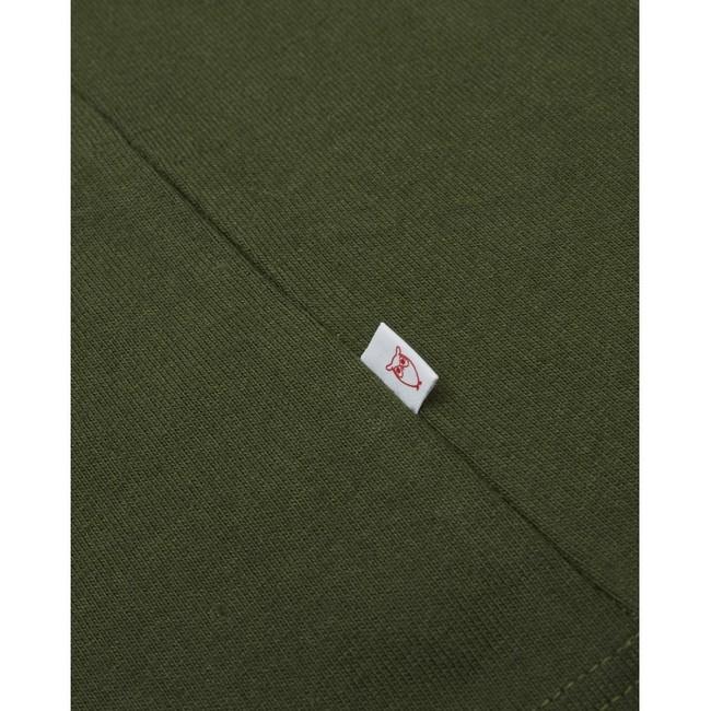 T-shirt ample vert forêt en coton bio - Knowledge Cotton Apparel num 3