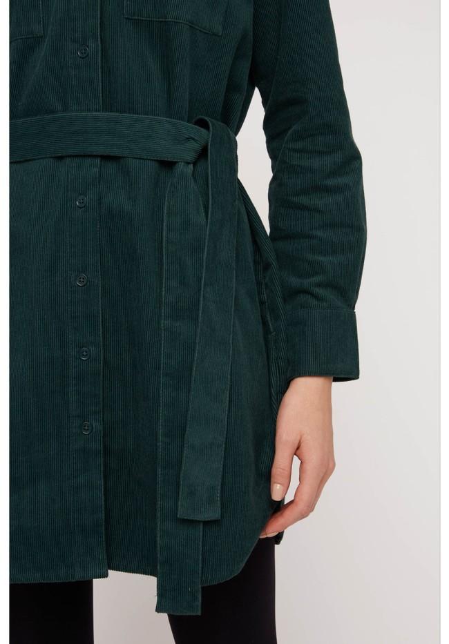 Robe chemise verte velours en coton bio - franca - People Tree num 3