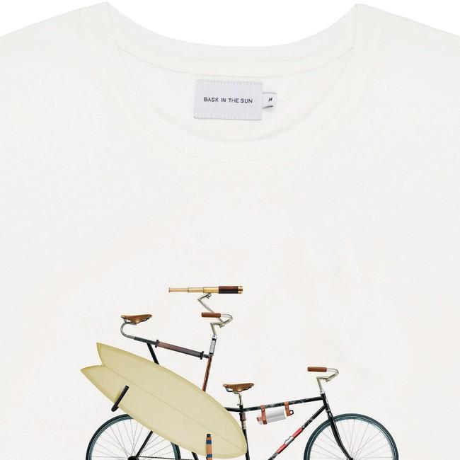 T-shirt en coton bio natural surfbike - Bask in the Sun num 1