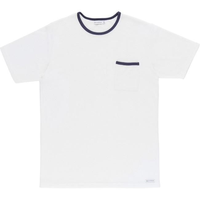 T-shirt en coton bio white andoni - Bask in the Sun
