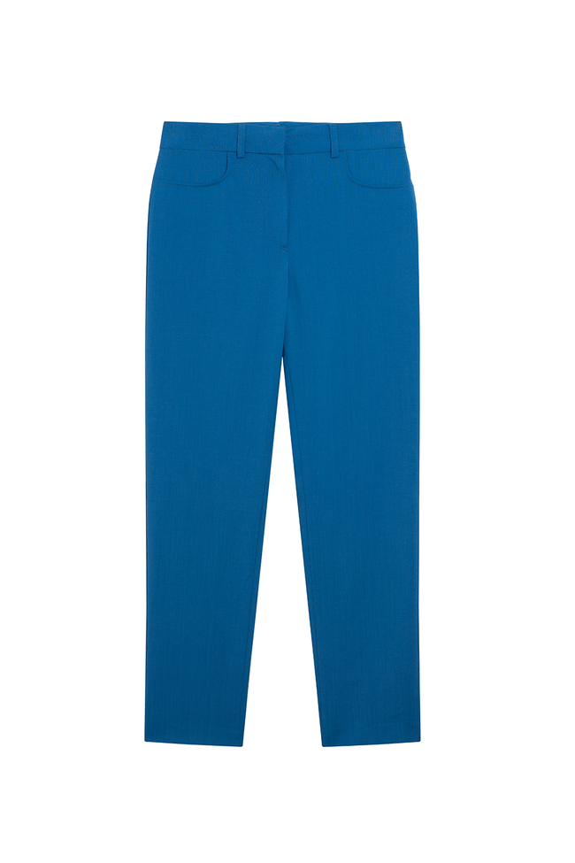 Pantalon tailleur new-york bleu royal - 17h10 num 1