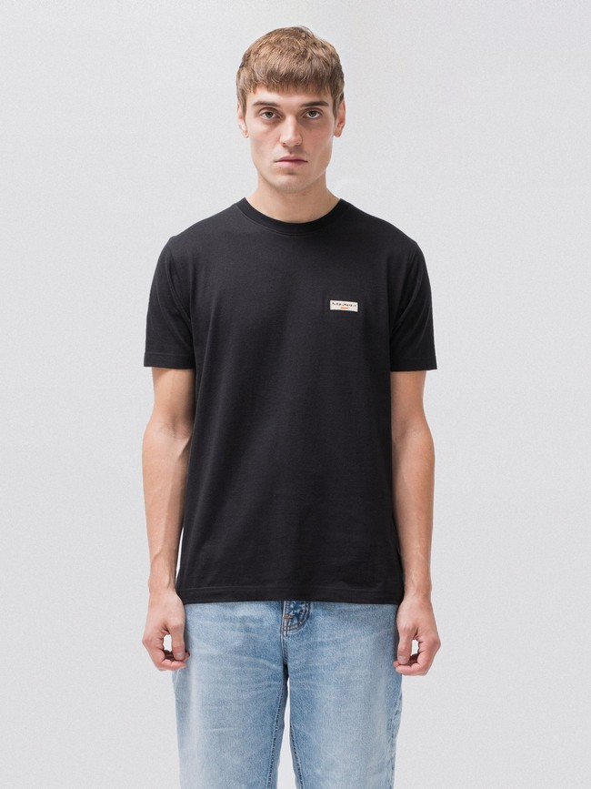 T-shirt noir en coton bio - daniel - Nudie Jeans num 1
