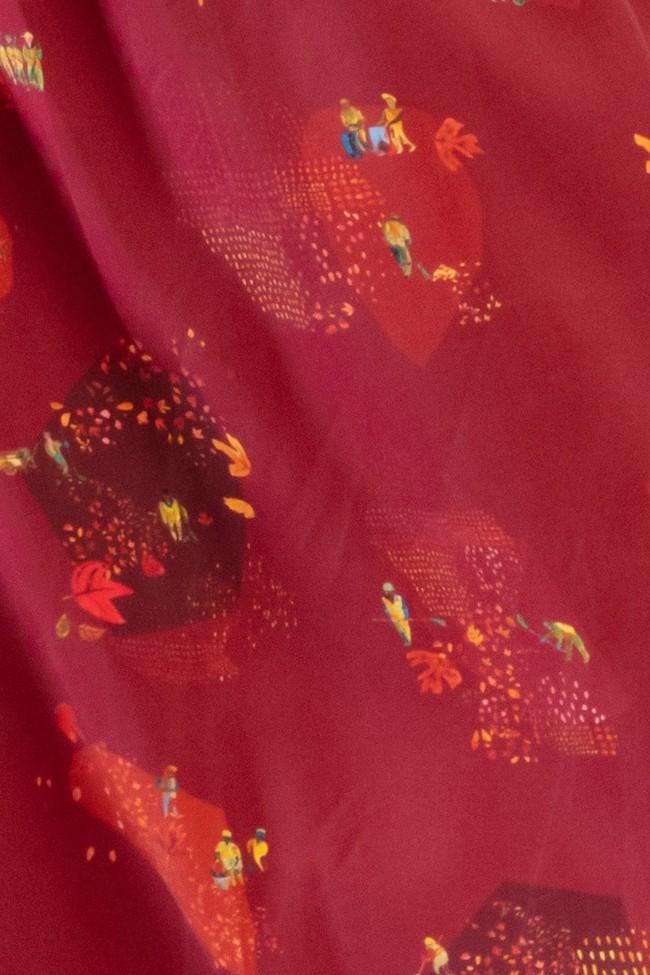 "Robe ""trench"" motif automne - Bleu Tango num 5"