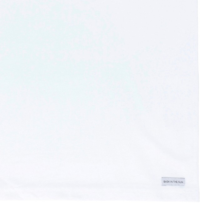 T-shirt en coton bio white cafe sale - Bask in the Sun num 3