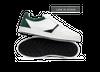 Chaussure en glencoe cuir blanc / suède sapin - Oth - 1
