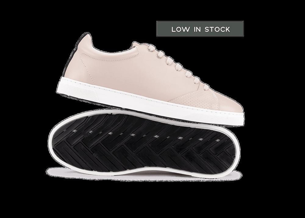 Chaussure en gravière cuir nude / semelle blanc - Oth