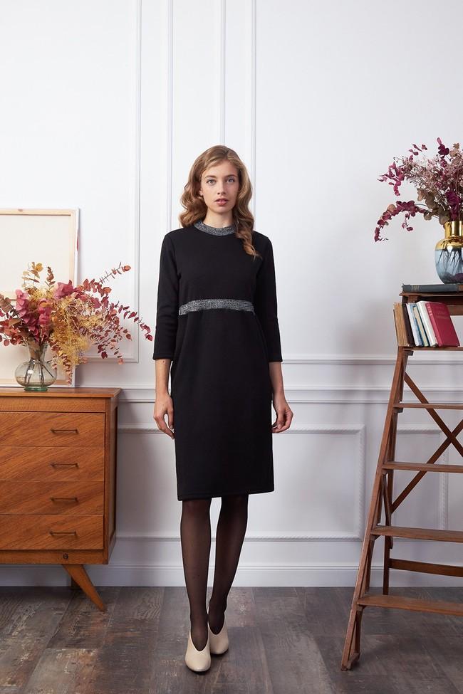 Robe jersey noir paillettes - Les Récupérables