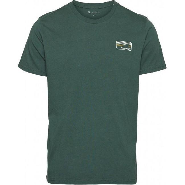 T-shirt vert forêt en coton bio - alder - Knowledge Cotton Apparel