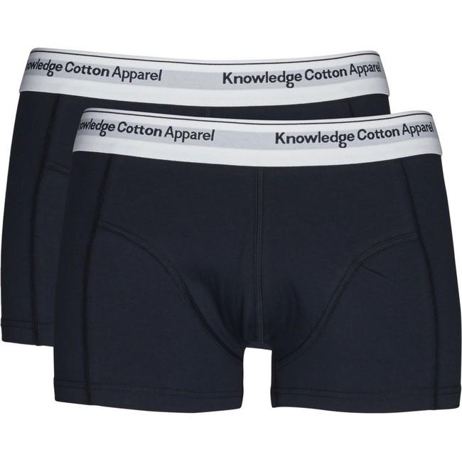 Pack boxers unis marine en coton bio - Knowledge Cotton Apparel