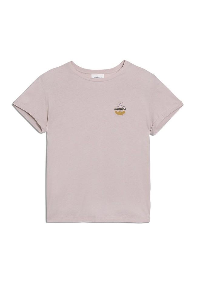 T-shirt rose pâle en coton bio - naalin girl scout - Armedangels num 4