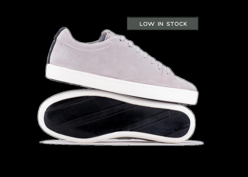 Chaussure en gravière suède gris clair / semelle blanc - Oth
